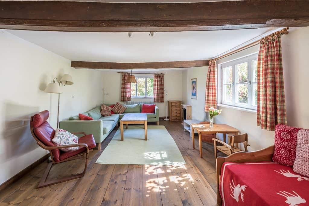 Wohnzimmer Ferienhaus Gärtnerhaus
