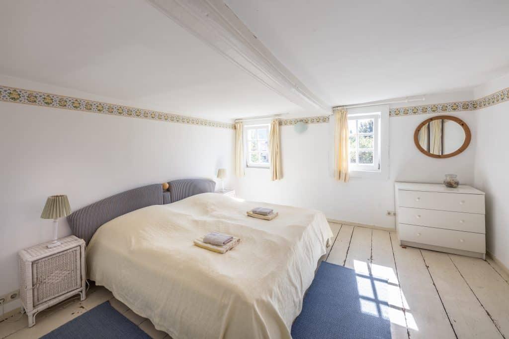 Schlafzimmer Ferienhaus Gärtnerhaus
